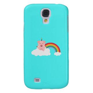 Unicorn Pig on cloud Q1Q Samsung Galaxy S4 Case