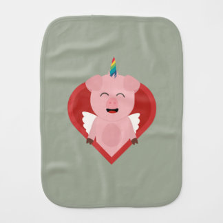 Unicorn Pig with Angelwings Z2h5i Burp Cloth