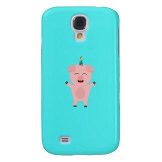 Unicorn Pig with rainbow Q1Q Galaxy S4 Case