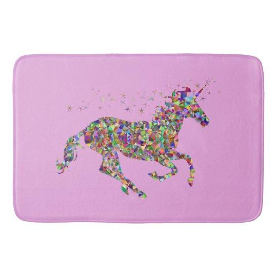 Unicorn Pink Bath Mat