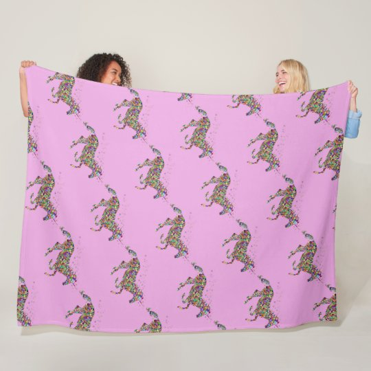 Unicorn Pink Fleece Blanket