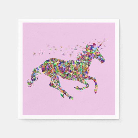 Unicorn Pink Paper Napkins
