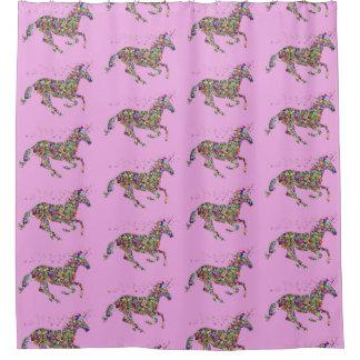 Unicorn Pink Shower Curtain