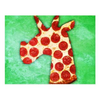 Unicorn Pizza Postcard