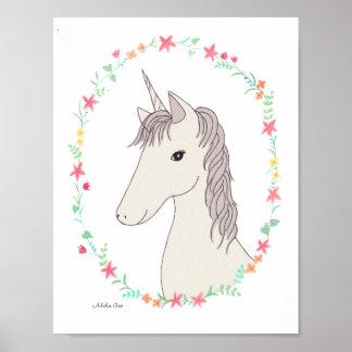 Unicorn Poster Unicorn Print Children's Room Decor