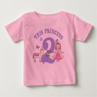 Unicorn Princess 2nd Birthday Baby T-Shirt