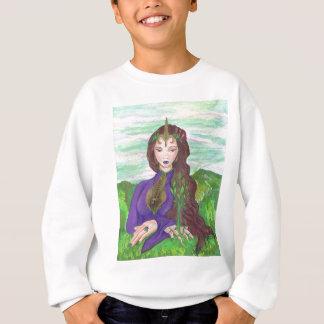 Unicorn Princess Healing Earth Plant Growing Sweatshirt