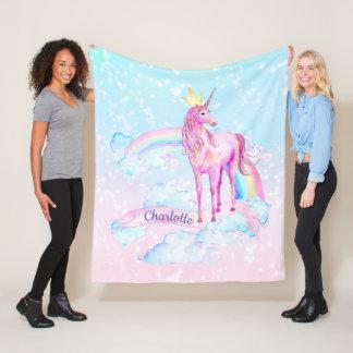 Unicorn Princess Personalized Unicorn Blanket