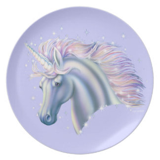 Unicorn Princess Dinner Plates