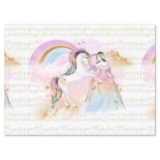 Unicorn Princess Rainbow music stars pink blue Tissue Paper