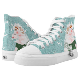 Unicorn Queen Victoria High Tops