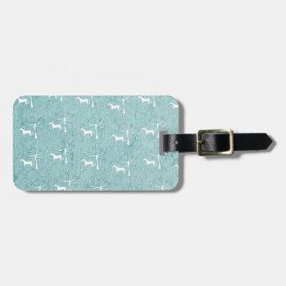 Unicorn Queen Victoria Luggage Tag