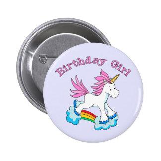Unicorn Rainbow Birthday Girl 6 Cm Round Badge