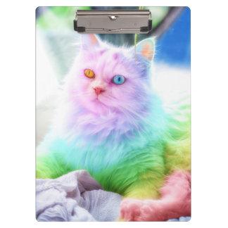Unicorn Rainbow Cat Clipboard