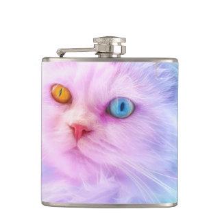 Unicorn Rainbow Cat Hip Flask