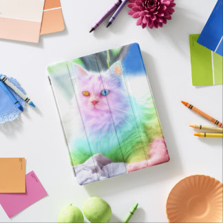 Unicorn Rainbow Cat iPad Cover