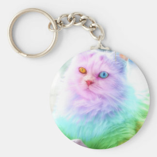 Unicorn Rainbow Cat Key Ring