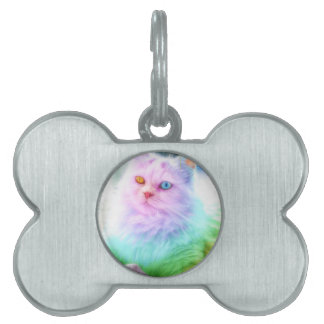 Unicorn Rainbow Cat Pet Tag