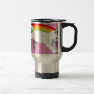 Unicorn Rainbow Cat Travel Mug