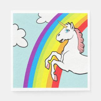 Unicorn Rainbow Disposable Serviettes
