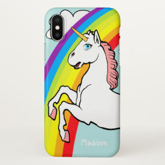 Unicorn Rainbow iPhone X Case
