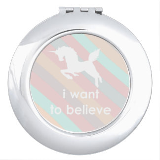 unicorn rainbow makeup mirror