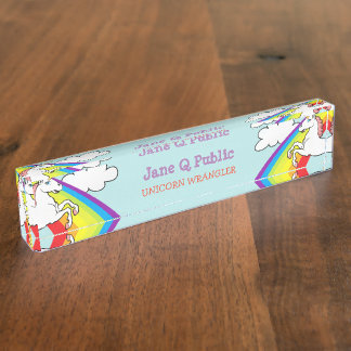 Unicorn Rainbow Name Plate