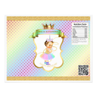 Unicorn Rainbow Pastels Vintage Baby Girl Chip Bag Flyer