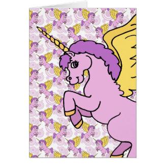 Unicorn Rainbow Pattern Greeting Card