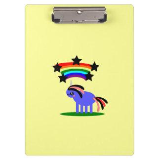 Unicorn Rainbow Star Clipboard