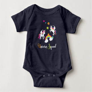 Unicorn Rainbow Stars. Fairy Tale Baby Bodysuit