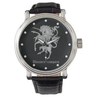 Unicorn rampant medieval heraldry watch