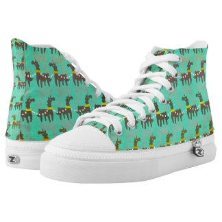 Unicorn Red Nose Printed Shoes