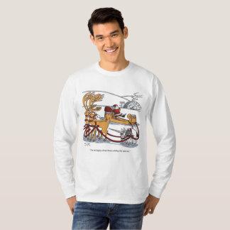 Unicorn Reindeer l-sleeve Christmas cartoon shirt