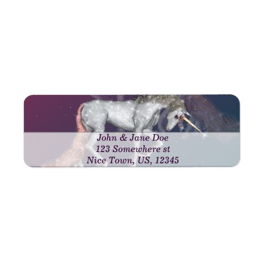 Unicorn Return Address Label