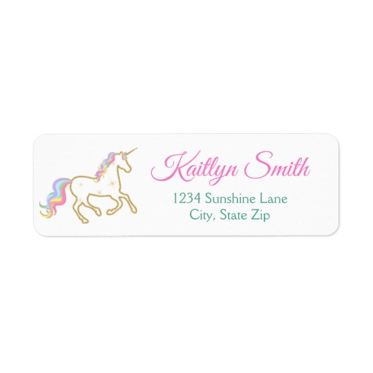 Unicorn Return Address Label