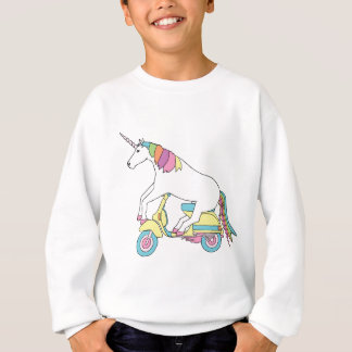 Unicorn Riding Motor Scooter Sweatshirt