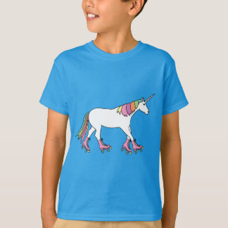 Unicorn Rollerskating T-Shirt