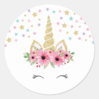 Unicorn Round Sticker