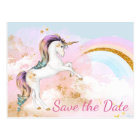 Unicorn Save The Date Postcards