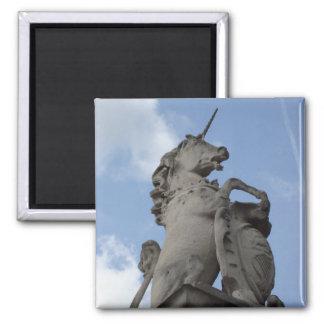 Unicorn Sculpture Square Magnet