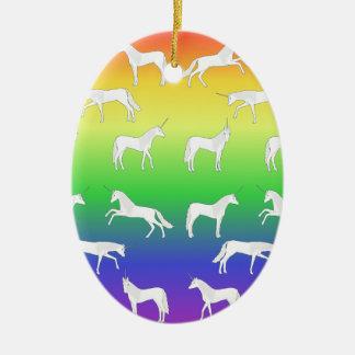 Unicorn selection ceramic ornament