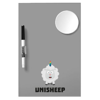 Unicorn Sheep Unisheep Z4txe Dry Erase Board With Mirror