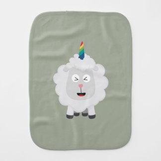 Unicorn Sheep with rainbow Zffz8 Burp Cloth