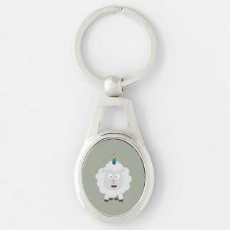Unicorn Sheep with rainbow Zffz8 Key Ring