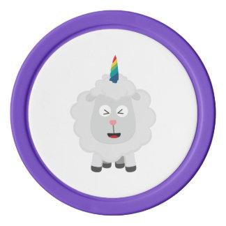 Unicorn Sheep with rainbow Zffz8 Poker Chips