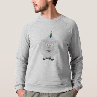 Unicorn Sheep with rainbow Zffz8 Sweatshirt