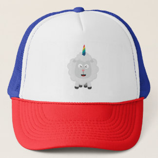 Unicorn Sheep with rainbow Zffz8 Trucker Hat