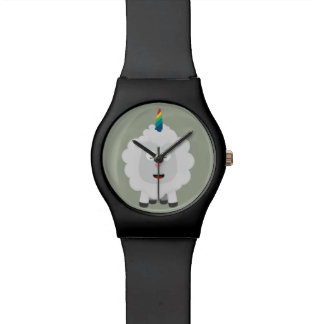 Unicorn Sheep with rainbow Zffz8 Watch