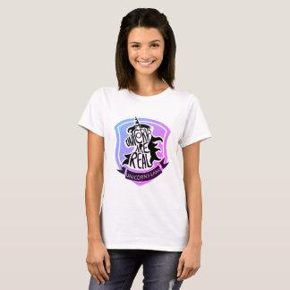 unicorn shield rainbow tshirt
